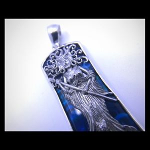 Jewelry - Awesome Mermaid Charm Blue Mother of Pearl